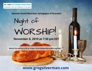 Click on the image to watch livestream of Greg Silverman Night of Worship at Shoresh David Messianic Synagogue of Brandon